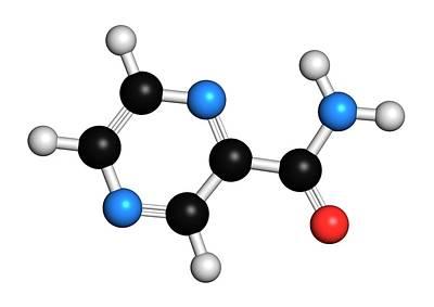 Pyrazinamide Tuberculosis Drug Molecule Art Print by Molekuul