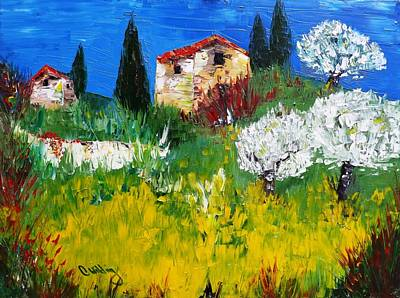 Painting - Pyrenees Farm  by Courtney Wilding