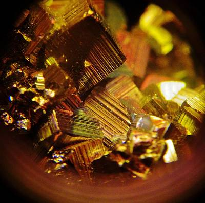 Photograph - Pyrite Crystals 2 by Sarah Pemberton