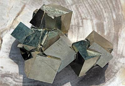 Fool Photograph - Pyrite Cubes I by Dirk Wiersma