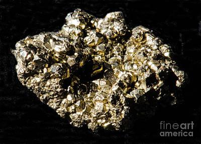 Inorganic Solid Photograph - Pyrite by Millard H. Sharp