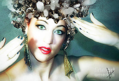 Photograph - Pyrite Princess by Afrodita Ellerman