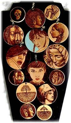 Goddess Jewellery Jewelry - Pyrography Pendants by Cara Jordan