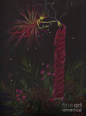 Pine Needles Drawing - Pyromancy by Dawn Fairies