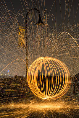Photograph - Pyrotechnics by Susan Candelario