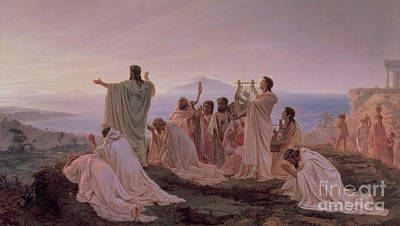 Pythagoreans' Hymn To The Rising Sun Art Print