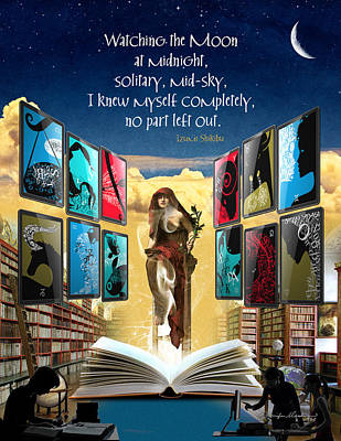 Library Digital Art - The New Learning Temple With Pythia by Jennifer Masters