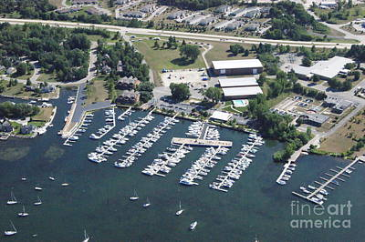 Photograph - Q-002 Quarterdeck Marina Summer Sturgeon Bay Wisconsin by Bill Lang
