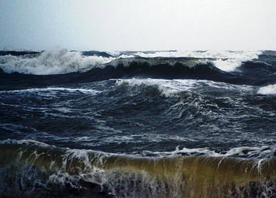 Florida Artists Mixed Media - Angry Seas by Gustave Kurz