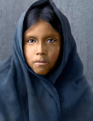 Digital Art - Qahatika Girl by Rick Mosher