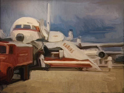 Painting - Qantas 707 by Nop Briex