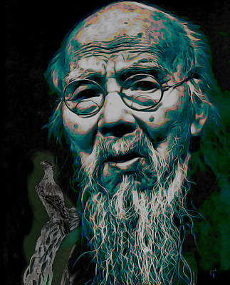 Painter Digital Art - Qi Baishi by  Fli Art