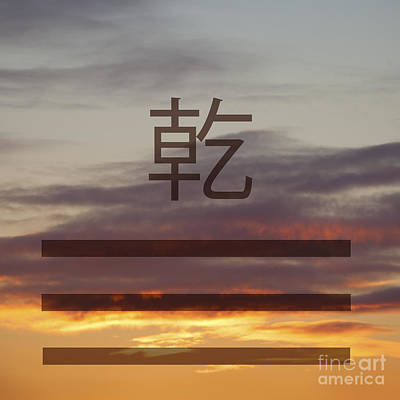 Photograph - Qian Trigram On Sunset Sky by Liz Leyden