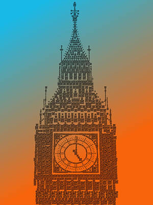 Photograph - Qr Pointillism - Big Ben 1 by Richard Reeve
