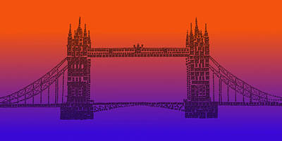 Photograph - Qr Pointillism - Tower Bridge 1 by Richard Reeve