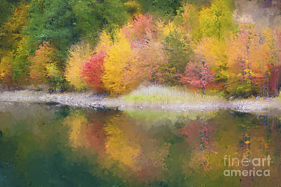 Quabbin Reservoir Fall 2014 Art Print