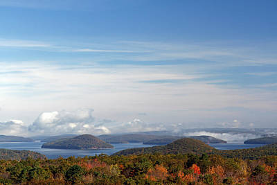 Travel Pics Royalty-Free and Rights-Managed Images - Quabbin Reservoir by Juergen Roth