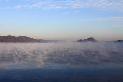 Quabbin Reservoir Morning Fog Art Print