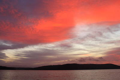 Quabbin Reservoir Sunrise Over Quabbin Hill Art Print