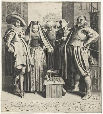 Table Cloth Painting - Quack, Jan Van De Velde II by Jan Van De Velde (ii)