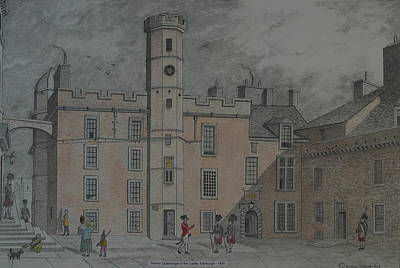 Drawing - Quadrangle Edinburgh Castle by William Goldsmith