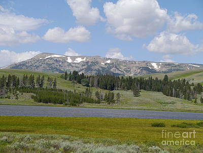 Gallatin River Photograph - Quadrant Mountain - Gallatin Range by Christiane Schulze Art And Photography