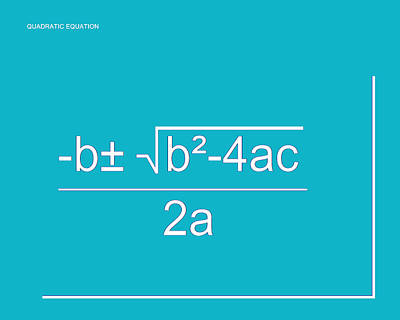 Digital Art - Quadratic Equation Aqua-white by Paulette B Wright