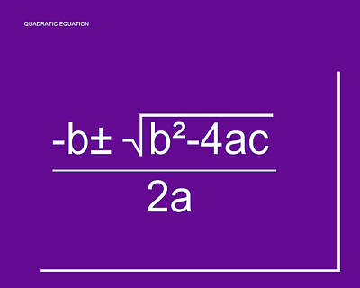 Digital Art - Quadratic Equation Violet-white by Paulette B Wright