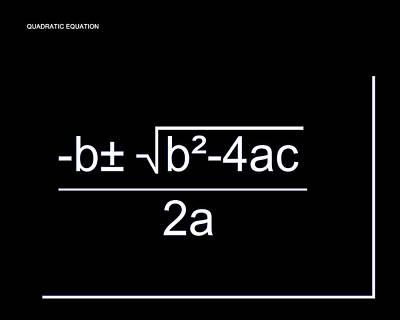 Digital Art - Quadratic Equation W-b by Paulette B Wright