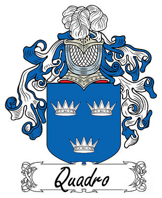 Quadro Digital Art - Quadro Coat Of Arms Italian by Heraldry