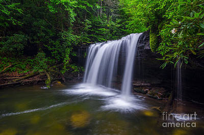 Mountain Laurel Photograph - Quadrule Falls Summer by Anthony Heflin