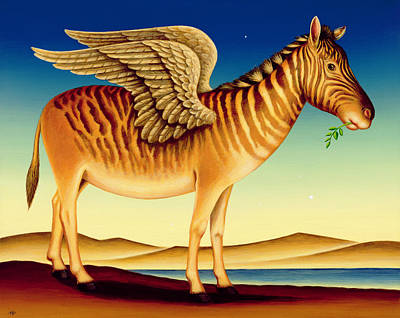 Pegasus Painting - Quagga by Frances Broomfield