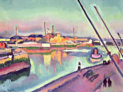 Notre Dame Painting - Quai Notre Dame Le Havre by Georges Dupuis