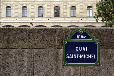 Quai Saint Michel Art Print by Georgia Fowler