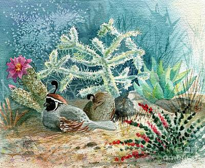Painting - Quail At Rest by Marilyn Smith