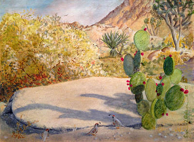 Quail Valley Art Print by Dan Redmon