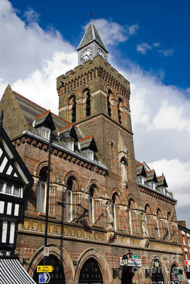 Photograph - Quaint English Town Hall - Congleton Cheshire England by David Hill