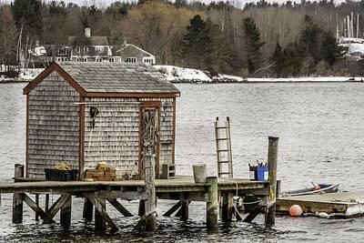 Quaint Fishing Shack New Hampshire Art Print