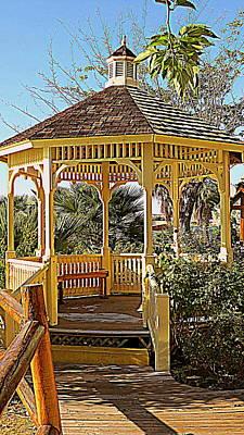 Photograph - Quaint Gazebo  by Kay Novy