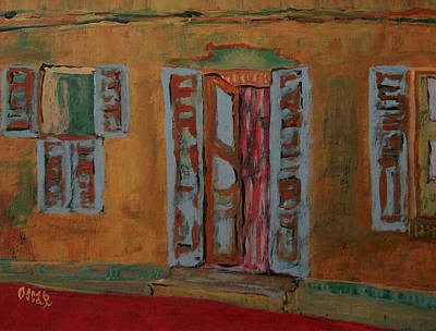 Painting - Quaint Home by Oscar Penalber