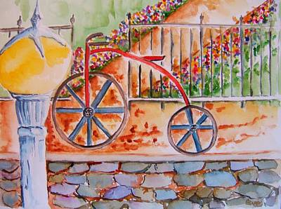 Two Wheeler Painting - Quaint Ride by Elaine Duras