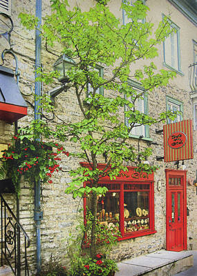 Photograph - Quaint Shops Quebec City by Ann Powell