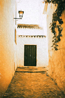 Quaint Spanish Lane Print by Paul Bucknall