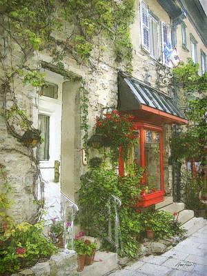Quaint Street Scene Quebec City Art Print