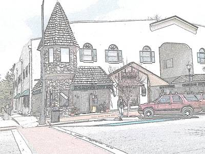 Digital Art - Quaint Town In Nc by Angelia Hodges Clay
