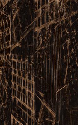 Art Print featuring the digital art Quake - Ground Zero by GJ Blackman