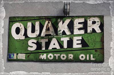 Quaker State Motor Oil Art Print by Janice Rae Pariza
