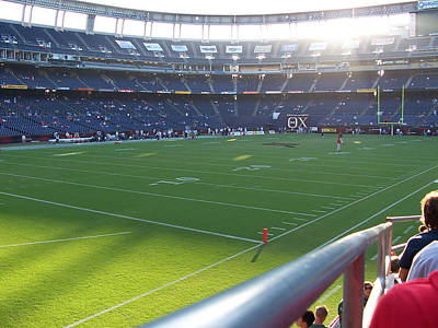 San Diego California Baseball Stadiums Photograph - Qualcomm Stadium by Georgia Fowler