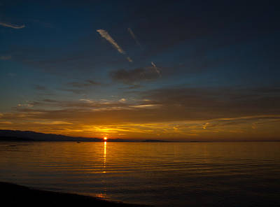Photograph - Qualicum Sunset II by Randy Hall