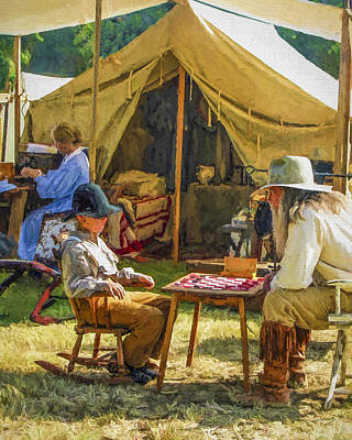 Pioneer Woman Painting - Quality Time by David Wagner